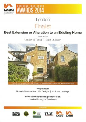 LABC Award - Finalist - Best Extension to an Existing Home - 2014