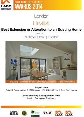LABC Award - Finalist - Best Extension or Alteration to an Existing Home - 2014